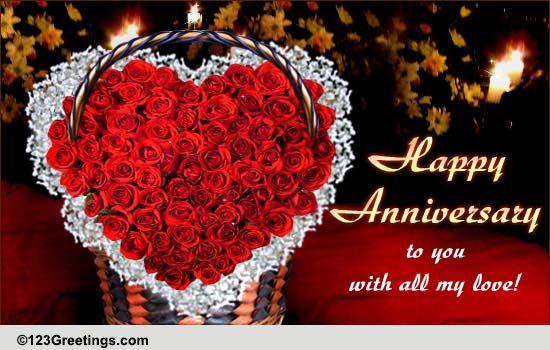 Wedding Anniversary Wish Free Happy Anniversary ECards Greeting Cards 123 Greetings