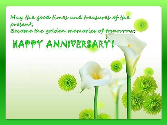 Greetings On A Dear One's Anniversay Free Flowers ECards
