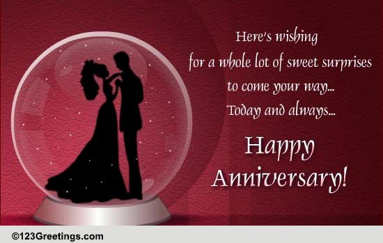On Wedding Anniversary! Free Gifts ECards Greeting Cards