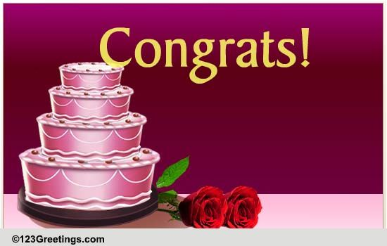 Anniversary Cake! Free Milestones ECards Greeting Cards