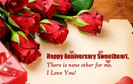 Happy Anniversary Sweetheart Free For Her ECards Greeting Cards 123 Greetings