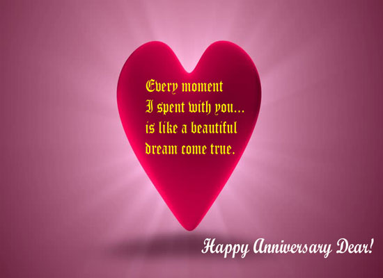 Beautiful Anniversary Message Free Happy Anniversary Quotes ECards 123 Greetings