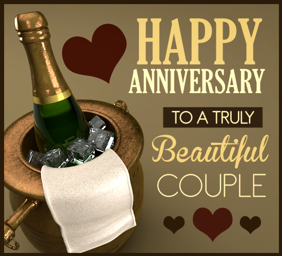Champagne Anniversary Free To A Couple ECards Greeting Cards 123 Greetings