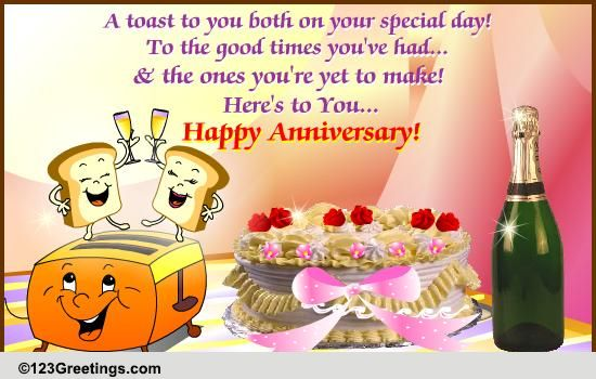 Anniversary To a Couple Cards Free Anniversary To a Couple Wishes  123 Greetings