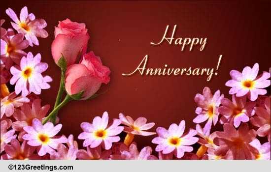 Anniversary Greeting Free To A Couple ECards Greeting Cards 123 Greetings