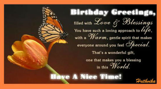 Love And Blessings! Free Birthday Blessings ECards