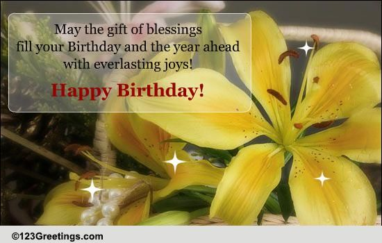 Birthday Blessings Free Birthday Blessings ECards Greeting Cards 123 Greetings
