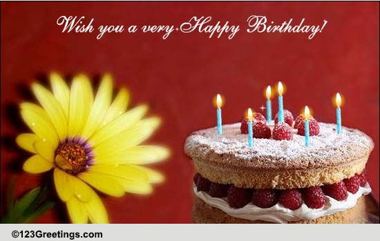 May God Shower You With Joy Free Birthday Blessings ECards 123 Greetings