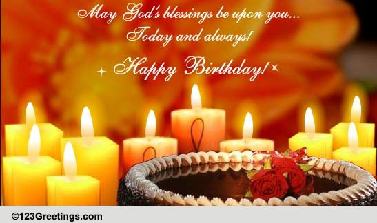 May Gods Blessings Be Upon You Free Birthday Blessings ECards 123 Greetings