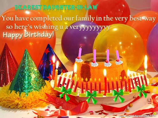 Loving Birthday Wish For Free Extended Family ECards