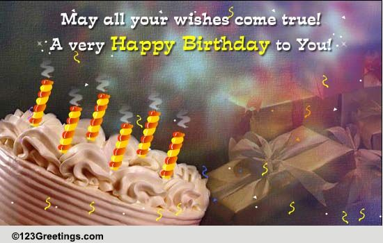 May All Your Wishes Come True Free Extended Family ECards 123 Greetings