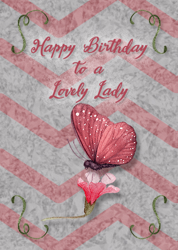 Birthday For A Lovely Lady Free Birthday For Her ECards