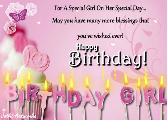 Special Birthday Girl Wishes! Free Birthday For Her ECards