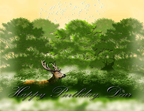 Dear Deer Birthday Free Birthday For Him ECards Greeting Cards 123 Greetings