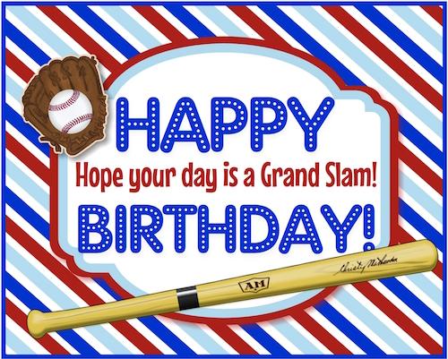 A Grand Slam Baseball Birthday Free Birthday For Him