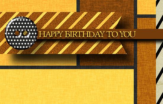 Happy Birthday Masculine Stripes Free Birthday For Him