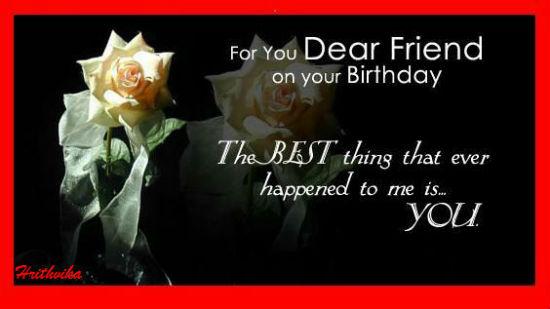 birthday of dear friend