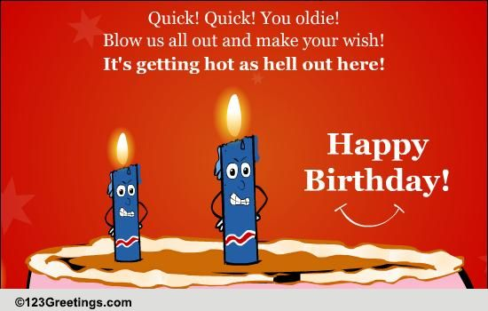 Funny Birthday Candles! Free Funny Birthday Wishes ECards