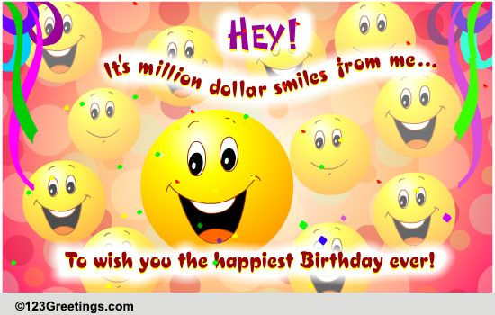 A Million Dollar Gift! Free Funny Birthday Wishes ECards