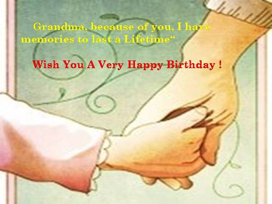 A Happy Birthday Wish For Grandmom Free Grandparents ECards 123 Greetings