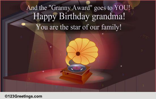 Happy Birthday Granny Free Grandparents ECards Greeting Cards 123 Greetings