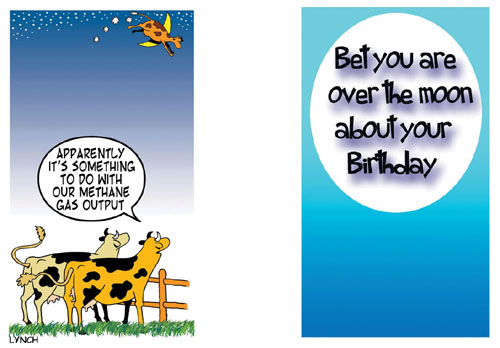Over The Moon Free Happy Birthday ECards Greeting Cards