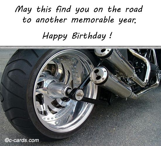Biker Free Happy Birthday eCards Greeting Cards 123