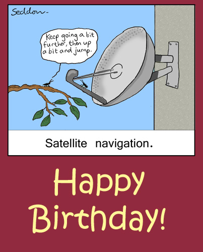 Satellite Navigation Free Happy Birthday ECards Greeting