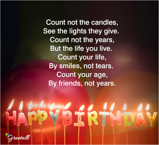 Count Not The Candles Free Happy Birthday ECards Greeting Cards 123 Greetings