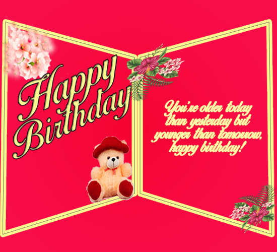 Birthday Wishes Double Greeting Card Free Happy Birthday ECards 123 Greetings