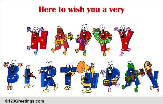 My Birthday Band! Free Happy Birthday ECards Greeting