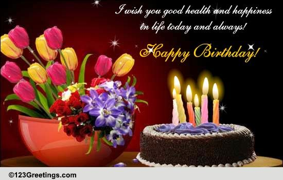 wish you health and