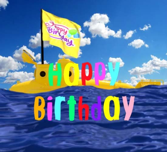 Happy Birthday Submarine Free Happy Birthday ECards Greeting Cards 123 Greetings