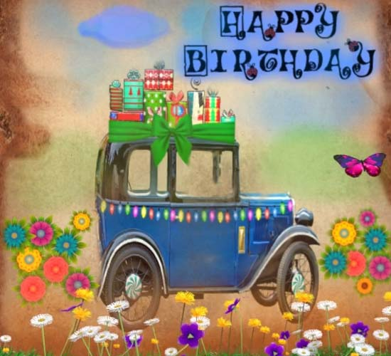 Happy Birthday Vintage Car Free Happy Birthday ECards Greeting Cards 123 Greetings
