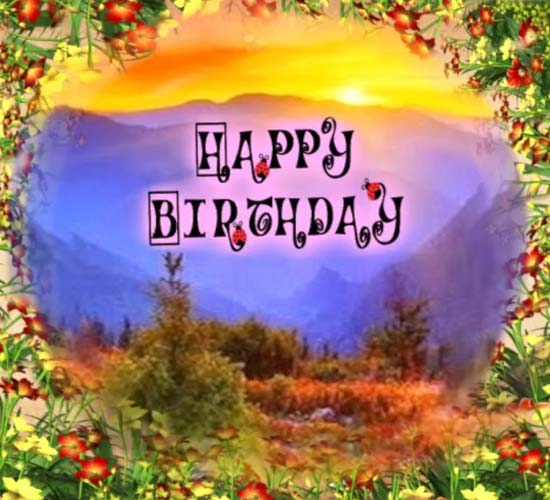 Beautiful Birthday Scenery Free Happy Birthday ECards