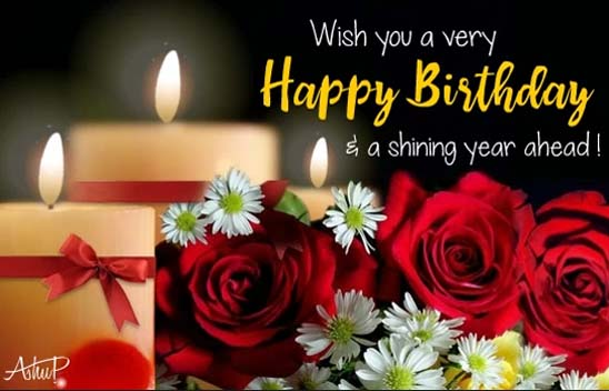 Showering Birthday Wishes Amp Blessings Free Happy Birthday