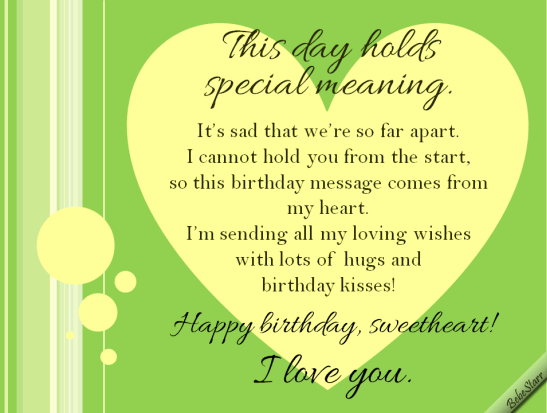 Long Distance Birthday Free For Husband Amp Wife ECards 123 Greetings
