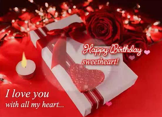 romantic birthday greetings sweetheart