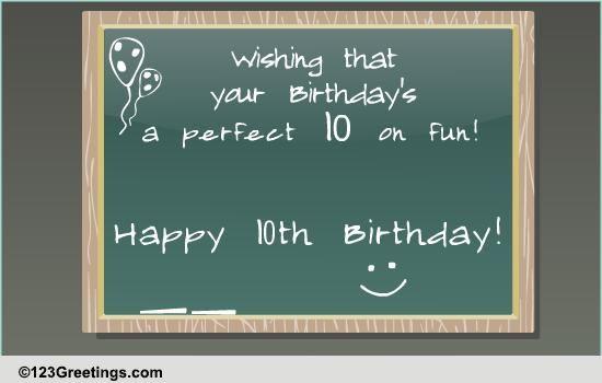 Happy 10th Birthday Free Milestones ECards Greeting Cards 123 Greetings