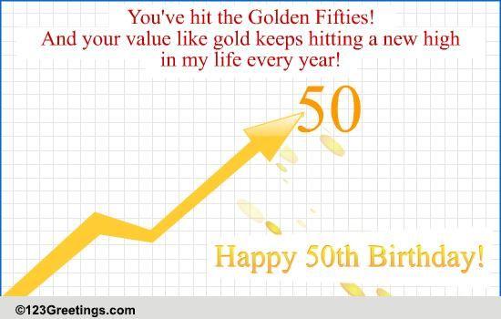 50th Birthday Free Milestones ECards Greeting Cards 123 Greetings