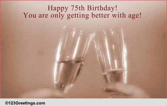 75th Birthday Wish! Free Milestones ECards Greeting Cards