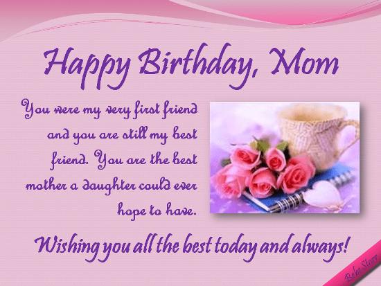 Friend My Best My Birthday Happy Mom