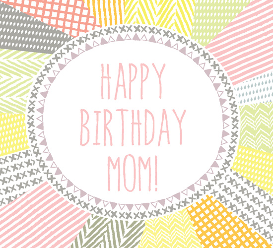 Happy Birthday Mom Abstract Pattern Free For Mom & Dad