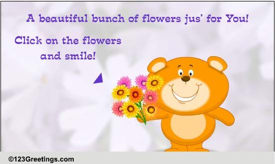 Roses And Smiles! Free For Son & Daughter ECards Greeting