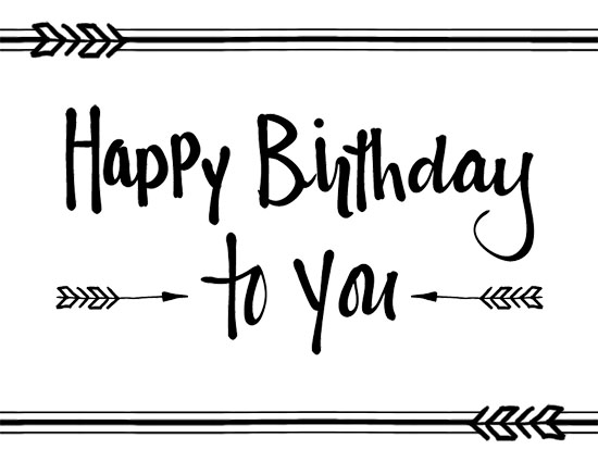 Happy Birthday To You Arrows Free Songs ECards