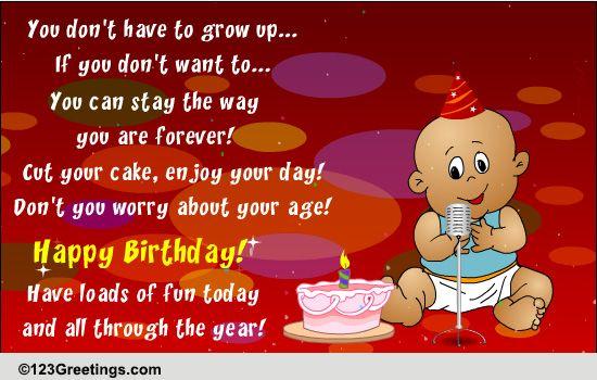 Singing Birthday Baby! Free Songs ECards Greeting Cards