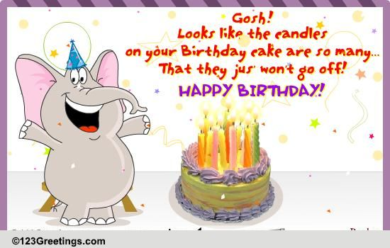 Blow The Birthday Candles! Free Birthday Wishes ECards