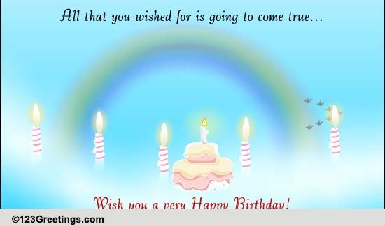 A Bright Future Beckons Free Birthday Wishes ECards Greeting Cards 123 Greetings