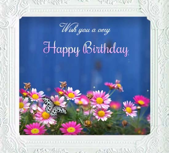 Colorful Birthday Wishes Via Flowers Free Birthday Wishes ECards 123 Greetings