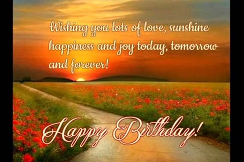 Love Sunshine Joy And Happiness Free Birthday Wishes ECards 123 Greetings